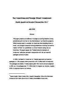 Tax Incentives and Foreign Direct Investment