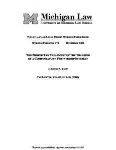 tax lawyer, vol. 62, pp. 1-28, (2009) - SSRN papers