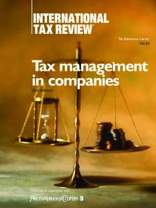 Tax management in companies