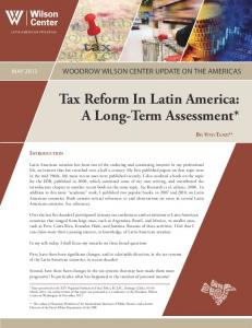 Tax Reform In Latin America: A Long-Term Assessment* - Woodrow ...