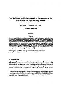 Tax Reforms and Labour-market Performance: An ...