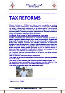 tax reforms - Taxation Reforms