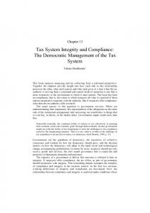 Tax System Integrity and Compliance - Centre for Tax System Integrity
