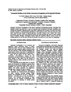 Taxonomic Studies on the Family Asteraceae (Compositae) of the
