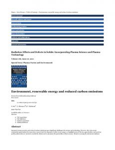 Taylor & Francis Online :: Environment, renewable energy and ...