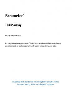 TBARS Parameter Assay - R&D Systems