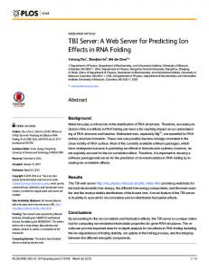 TBI Server: A Web Server for Predicting Ion Effects ... - Semantic Scholar