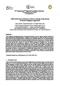 TBM Performance Prediction in Rock Tunneling Using Various ...