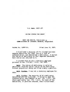 T.C. Memo. 2007-157 UNITED STATES TAX COURT GARY LEE ...