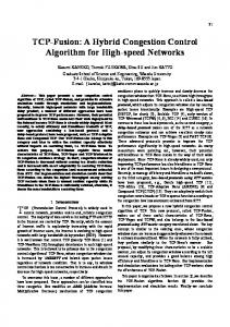 TCP-Fusion: A Hybrid Congestion Control Algorithm for High-speed ...
