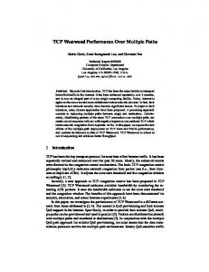 TCP Westwood Performance Over Multiple Paths - Semantic Scholar