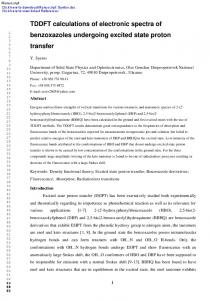 TDDFT calculations of electronic spectra of