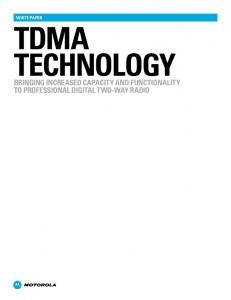 TDMA Technology