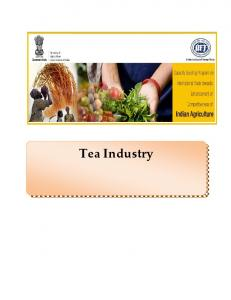 Tea Industry - Ministry of Agriculture Government of India