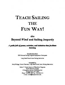 TEACH SAILING THE FUN WAY! - Blackbeard Sailing Club
