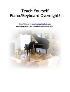 Teach Yourself Piano/Keyboard Overnight!