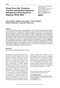 Teacher Education and Special Education