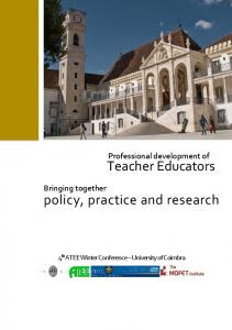 Teacher Educators policy, practice and research