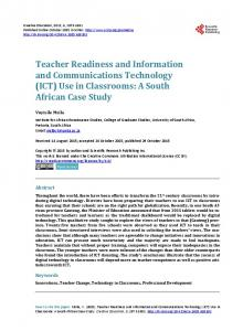 Teacher Readiness and Information and Communications Technology