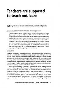 Teachers are supposed to teach not learn