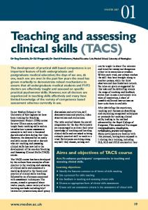 Teaching and assessing clinical skills (TACS)