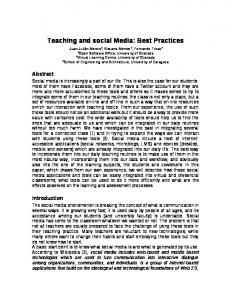 Teaching and social Media: Best Practices