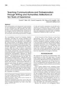 Teaching Communications and Professionalism ... - Wiley Online Library
