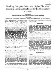Teaching Computer Science in Higher Education: Enabling Learning ...