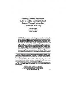 Teaching conflict resolution skills to middle and high ... - CiteSeerX