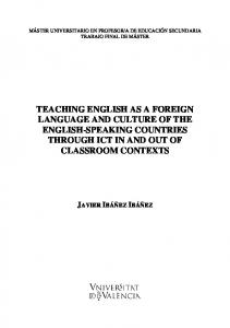 teaching english as a foreign language and culture - Universitat de ...