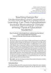 Teaching Games for Understanding and Cooperative Learning: Can