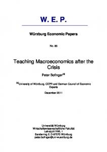 Teaching Macroeconomics after the Crisis
