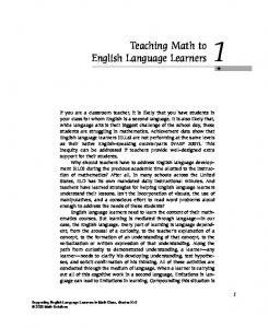 Teaching Math to English Language Learners - Math Solutions