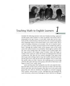 Teaching Math to English Learners 1 - Math Solutions