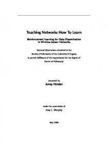 Teaching Networks How To Learn - Semantic Scholar