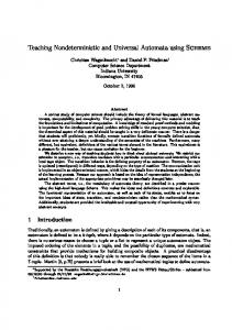 Teaching Nondeterministic and Universal Automata using Scheme 1 ...