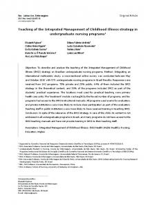 Teaching of the Integrated Management of Childhood Illness ... - SciELO