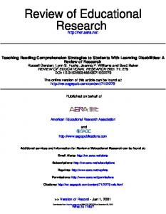 Teaching Reading Comprehension Strategies to