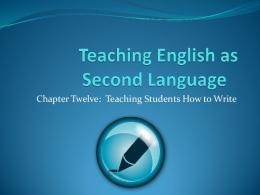 Teaching Students How to Write