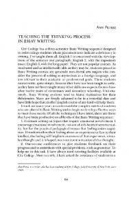 TEACHING THE THINKING PROCESS IN ESSAY WRITING