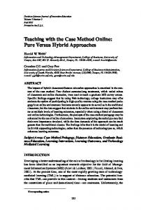 Teaching with the Case Method Online: Pure ... - Grandon Gill's Website
