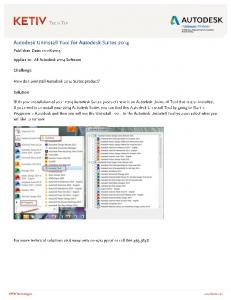 TECH TIP Autodesk Uninstall Tool for Autodesk Suites 2014 - KETIV