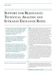 Technical Analysis and Intraday Exchange Rates