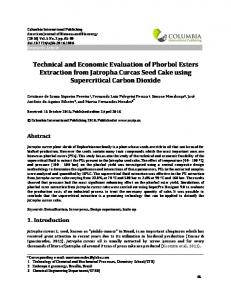 Technical and Economic Evaluation of Phorbol Esters Extraction from ...