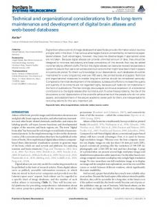Technical and organizational considerations for the ... - ScienceOpen