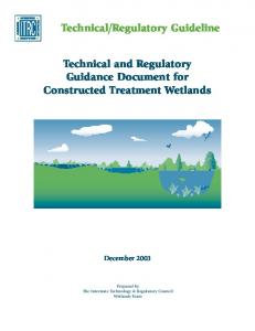 Technical and Regulatory Guidance Document for Constructed ...
