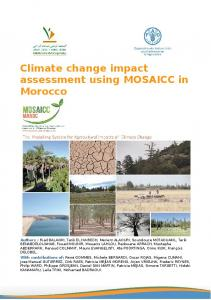 Technical assessment of MOSAICC in Morocco - Changement ...