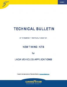Technical Bulletin New Kits for Lada 12-2011 - Online catalogue