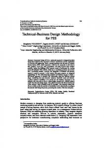 Technical-Business Design Methodology for PSS - Semantic Scholar