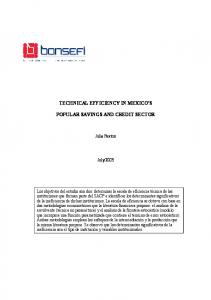technical efficiency in mexico's popular savings and credit ... - CiteSeerX